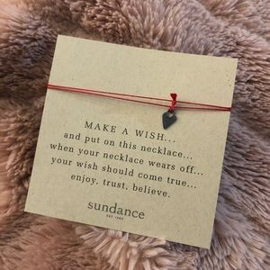 "Sterling Silver Sundance ""Make A Wish"" Necklace"